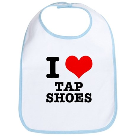 I Heart (Love) Tap Shoes Bib
