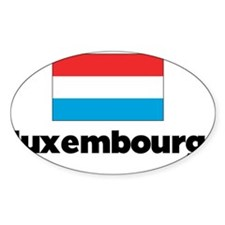 I HEART LUXEMBOURG FLAG Decal
