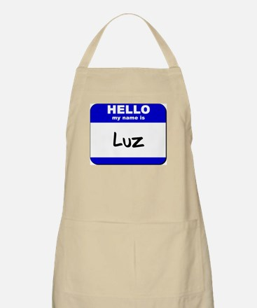 hello my name is luz  BBQ Apron