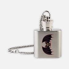 Bat Cartoon Flask Necklace