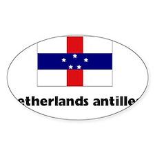 I HEART NETHERLANDS ANTILLES FLAG Decal