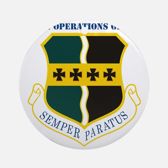 9th Operations Group with Text Round Ornament