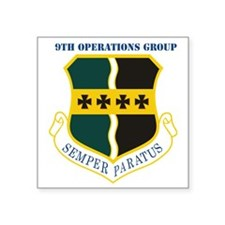 "9th Operations Group with T Square Sticker 3"" x 3"""