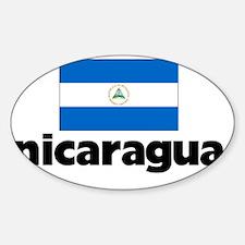 I HEART NICARAGUA FLAG Sticker (Oval)