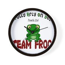team frog Wall Clock