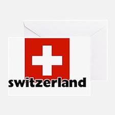 I HEART SWITZERLAND FLAG Greeting Card