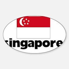 I HEART SINGAPORE FLAG Decal