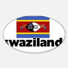 I HEART SWAZILAND FLAG Decal