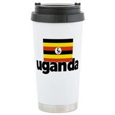 I HEART UGANDA FLAG Travel Mug