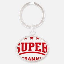 Super Granny (Red) Oval Keychain
