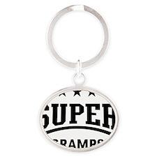 Super Gramps (Black) Oval Keychain