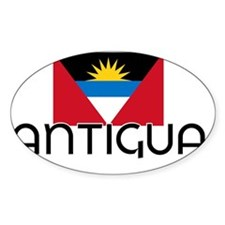I HEART ANTIGUA FLAG Decal