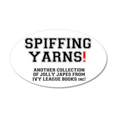 SPIFFING YARNS - IVY LEAGUE  35x21 Oval Wall Decal