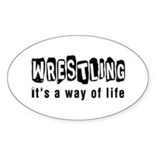Wrestling it is a way of life Decal