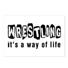 Wrestling it is a way of life Postcards (Package o