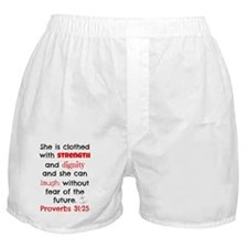 Proverbs 31:25 Boxer Shorts