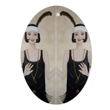 StephanieAM FlapperDuo Oval Ornament
