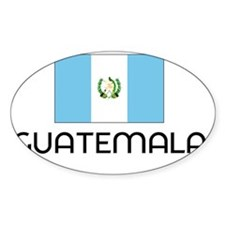 I HEART GUATEMALA FLAG Decal