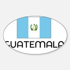 I HEART GUATEMALA FLAG Sticker (Oval)