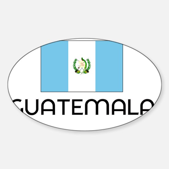I HEART GUATEMALA FLAG Sticker (Oval)