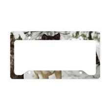"""""""Red  Timber  Wolf"""" License Plate Holder"""
