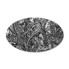 Extra Wild Paisley B/W Wall Decal