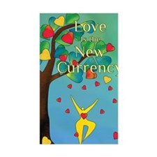 Love is the New Currency logo Decal