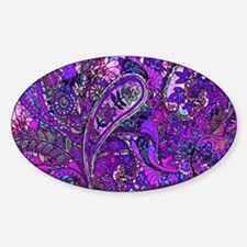 Extra Wild Paisley Purple Sticker (Oval)