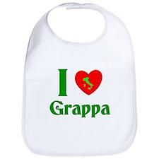 I Love Grappa Bib