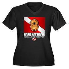 Hard Hat Div Women's Plus Size Dark V-Neck T-Shirt