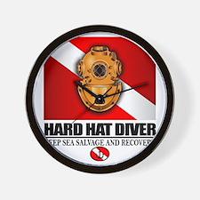 Hard Hat Diver Wall Clock