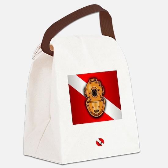 Hard Hat Diver Canvas Lunch Bag