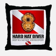 Hard Hat Diver Throw Pillow