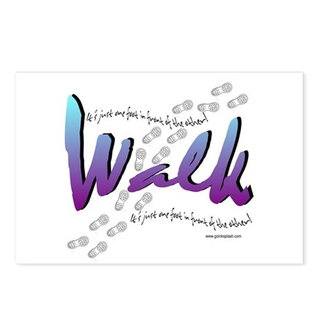 Walk - Just one foot Postcards (Package of 8)