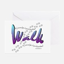 Walk - Just one foot Greeting Cards (Pk of 10)
