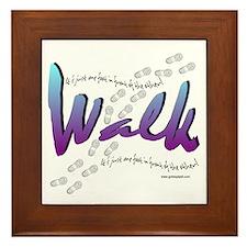 Walk - Just one foot Framed Tile