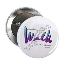 """Walk - Just one foot 2.25"""" Button (10 pack)"""