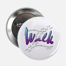 """Walk - Just one foot 2.25"""" Button (100 pack)"""