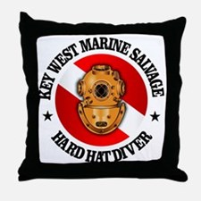Key West Marine Salvage Throw Pillow