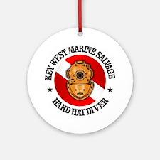 Key West Marine Salvage Round Ornament