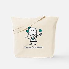Teal Ribbon - Survivor Tote Bag