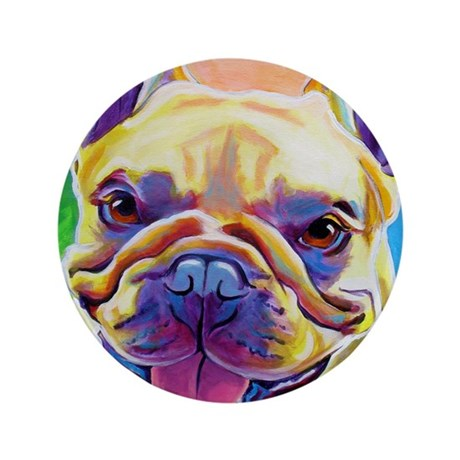 """Frenchie #3 3.5"""" Button"""
