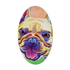 Frenchie #3 Oval Car Magnet