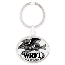 Flying Fish Oval Keychain