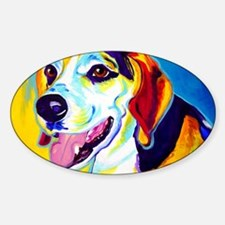 Beagle #6 Sticker (Oval)