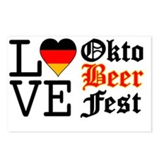 German Flag Heart Oktober Postcards (Package of 8)