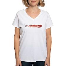 BACON Women's V-Neck T-Shirt