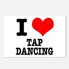 I Heart (Love) Tap Dancing Postcards (Package of 8