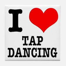 I Heart (Love) Tap Dancing Tile Coaster