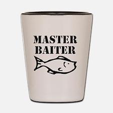 master baiter Shot Glass